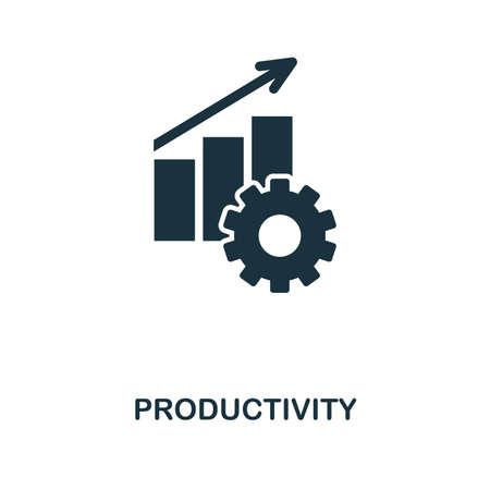 Productiviteit creatief pictogram. Eenvoudig element met de afbeelding. Productiviteit symbool conceptontwerp uit projectmanagement-collectie. Kan worden gebruikt voor mobiel en webdesign, apps, software, print. Stockfoto