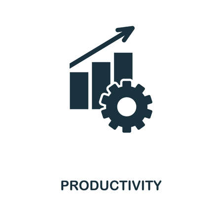 Productivity creative icon. Simple element illustration. Productivity concept symbol design from project management collection. Can be used for mobile and web design, apps, software, print.