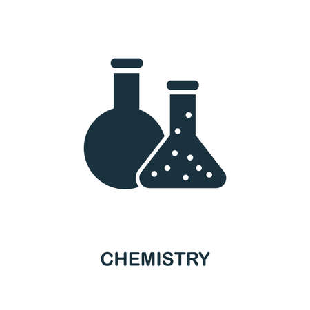 Chemistry creative icon. Simple element illustration. Chemistry concept symbol design from school collection. Can be used for mobile and web design, apps, software, print.