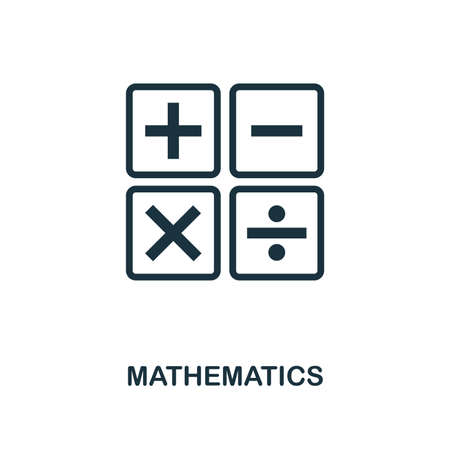 Mathematics creative icon. Simple element illustration. Mathematics concept symbol design from school collection. Can be used for mobile and web design, apps, software, print.