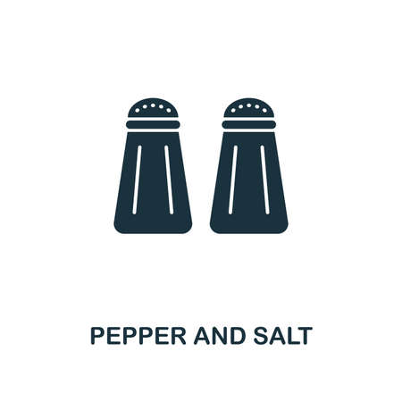 Pepper And Salt creative icon. Simple element illustration. Pepper And Salt concept symbol design from meal collection. Can be used for mobile and web design, apps, software, print.