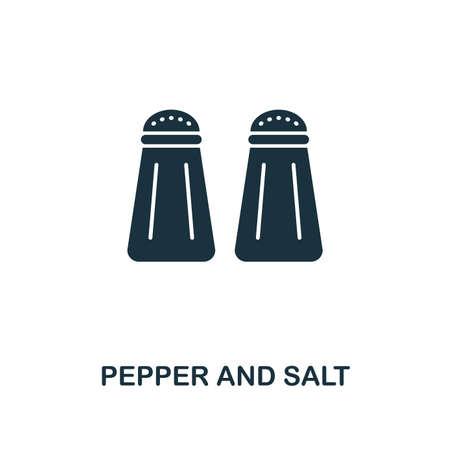 Icône de création de poivre et sel. Illustration d'élément simple. Conception de symbole de concept de poivre et sel de la collection de repas. Peut être utilisé pour la conception mobile et Web, les applications, les logiciels, l'impression.