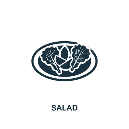 Salad creative icon. Simple element illustration. Salad concept symbol design from meal collection. Can be used for mobile and web design, apps, software, print. Stock Illustratie
