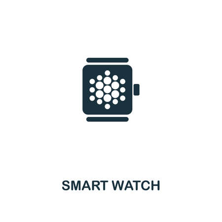 Smart Watch creative icon. Simple element illustration. Smart Watch concept symbol design from smart devices collection. Can be used for mobile and web design, apps, software, print.