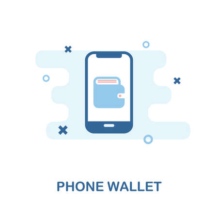 Phone Wallet creative icon. Simple element illustration. Phone Wallet concept symbol design from mobile phone collection. Can be used for web, mobile and print. web design, apps, software, print. Vectores