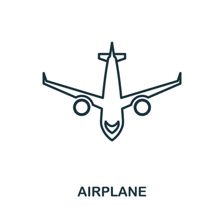 Aircraft creative icon. Simple element illustration. Aircraft icon symbol design from travel collection. Can be used for web, mobile and print. web design, apps, software, print.
