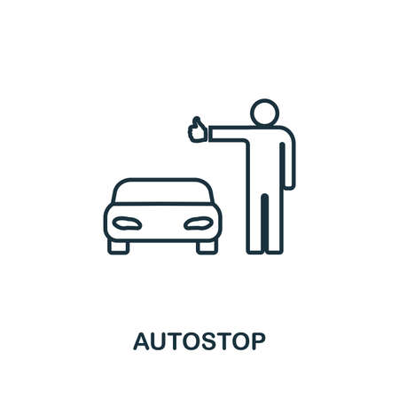 Autostop creative icon. Simple element illustration. Autostop icon symbol design from travel collection. Can be used for web, mobile and print. web design, apps, software, print.