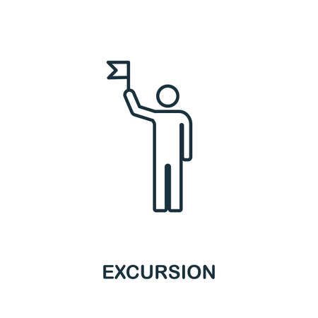 Excursion creative icon. Simple element illustration. Excursion icon symbol design from travel collection. Can be used for web, mobile and print. web design, apps, software, print. Stock Illustratie
