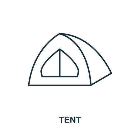 Tent creative icon. Simple element illustration. Tent icon symbol design from travel collection. Can be used for web, mobile and print. web design, apps, software, print. Banco de Imagens