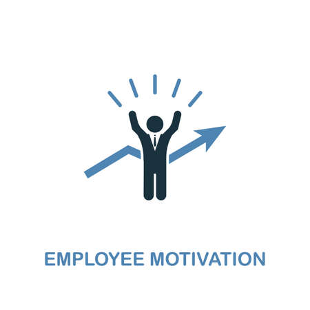 Employee Motivation creative icon. Simple illustration. Employee Motivation icon from human resources collection. Two colors element for web, apps, software, print. Stock Illustratie