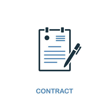 Contract creative icon. Simple illustration. Contract icon from human resources collection. Two colors element for web, apps, software, print.