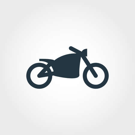Motorcycle creative icon. Simple element illustration. Motorcycle concept symbol design from transport collection. Can be used for web, mobile and print. web design, apps, software, print. Stock Photo