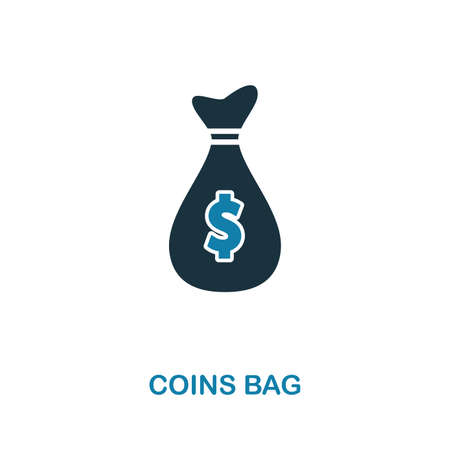 Coins Bag creative icon. Simple element illustration. Coins Bag concept symbol design from money collection. Can be used for web, mobile and print. web design, apps, software, print.