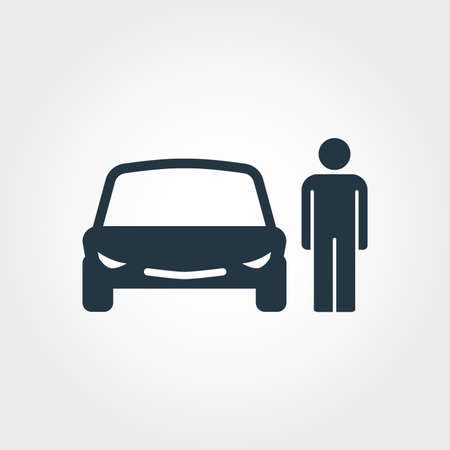 Car Driver creative icon. Simple element illustration. Car Driver concept symbol design from transport collection. Can be used for web, mobile and print. web design, apps, software, print. Illustration