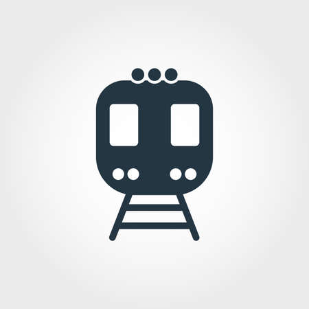 Train creative icon. Simple element illustration. Train concept symbol design from transport collection. Can be used for web, mobile and print. web design, apps, software, print. Standard-Bild