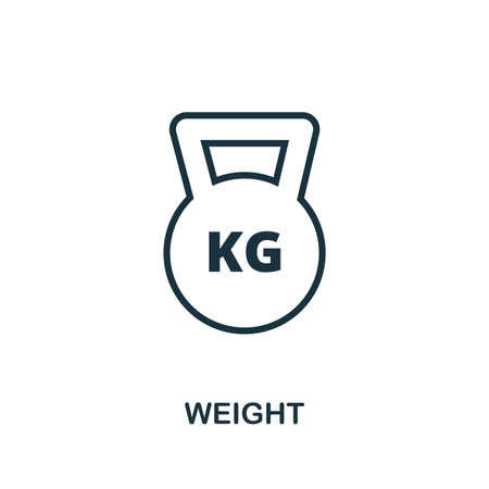 Weight outline icon. Simple element illustration. Weight icon in outline style design from sport equipment collection. Can be used for web, mobile and print. web design, apps, software, print.