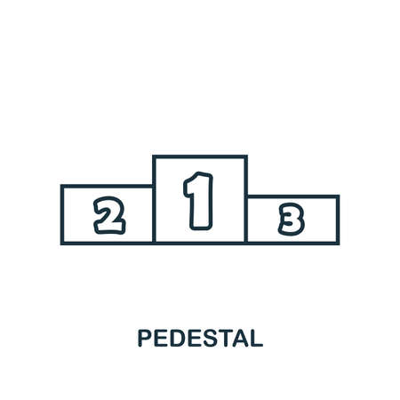 Pedestal outline icon. Simple element illustration. Pedestal icon in outline style design from sport equipment collection. Can be used for web, mobile and print. web design, apps, software, print. Illusztráció