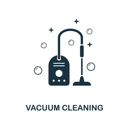 Vacuum Cleaning creative icon. Simple element illustration. Vacuum Cleaning concept symbol design from cleaning collection. Can be used for mobile and web design, apps, software, print.