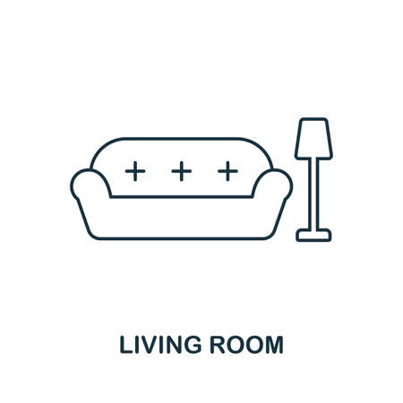Living Room icon. Simple element illustration. Living Room outline icon design from real estate collection. Web design, apps, software and print usage.
