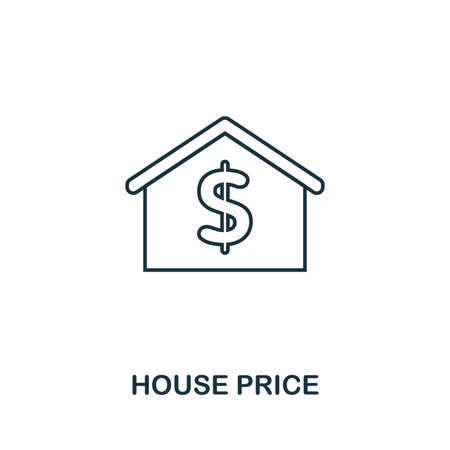 House Price icon. Simple element illustration. House Price outline icon design from real estate collection. Web design, apps, software and print usage. Illustration