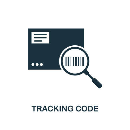 Tracking Code icon. Monochrome style design from logistics delivery collection. UI. Pixel perfect simple pictogram tracking code icon. Web design, apps, software, print usage.