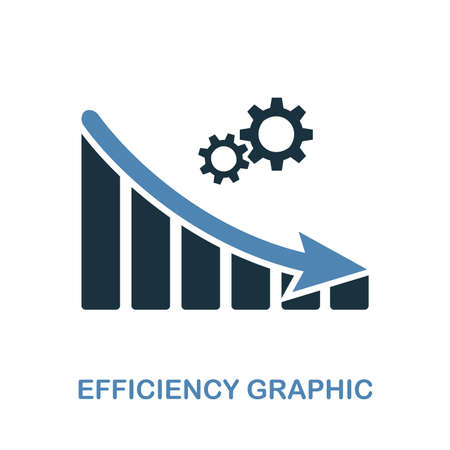 Efficiency Decrease Graphic icon. Monochrome style design from diagram collection. UI. Pixel perfect simple pictogram efficiency decrease graphic icon. Web design, apps, software, print usage.