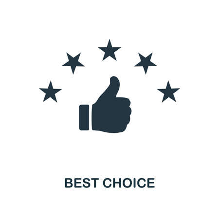Best Choice icon. Monochrome style design from e-commerce collection. UI. Pixel perfect simple pictogram best choice icon. Web design, apps, software, print usage.