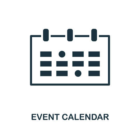 Event Calendar icon. Monochrome style design from smm collection. UI. Pixel perfect simple pictogram event calendar icon. Web design, apps, software, print usage.