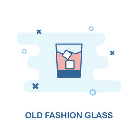 Whiskey Glass creative icon in color. Simple element illustration. Whiskey Glass concept symbol design from Bar and Restaurant collection. Can be used for web design, apps, software, print.