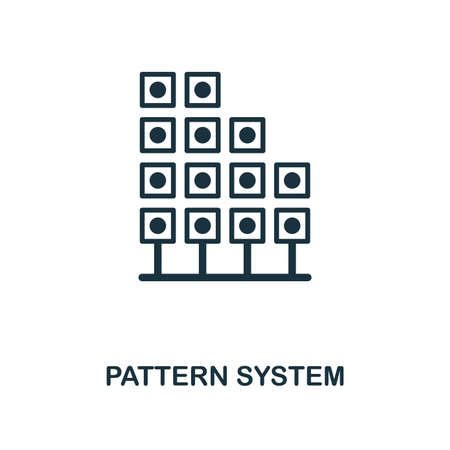 Pattern System icon. Monochrome style design from big data collection. UI. Pixel perfect simple pictogram pattern system icon. Web design, apps, software, print usage.
