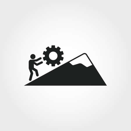 Icono de persistencia. Ilustración de elemento monocromo. Diseño de iconos de persistencia de la colección de habilidades blandas. Diseño web, aplicaciones, software y uso de impresión.