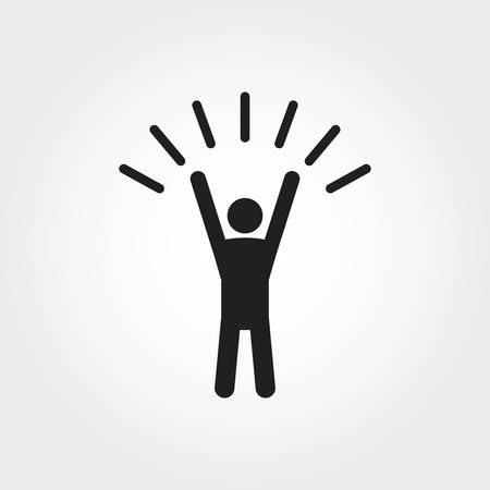 Icono de autoconfianza. Ilustración de elemento monocromo. Diseño de iconos de autoconfianza de la colección de habilidades blandas. Diseño web, aplicaciones, software y uso de impresión.