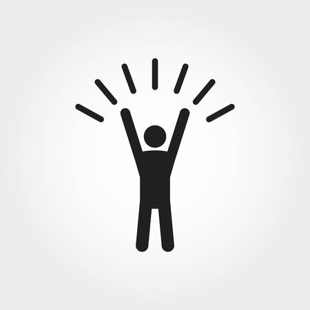 Self-Confidence icon. Monochrome element illustration. Self-Confidence icon design from soft skills collection. Web design, apps, software and print usage.