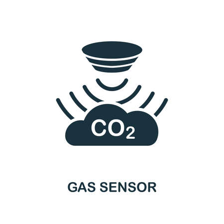 Gas Sensor icon. Monochrome style design from sensors collection. UX and UI. Pixel perfect gas sensor icon. For web design, apps, software, printing usage.