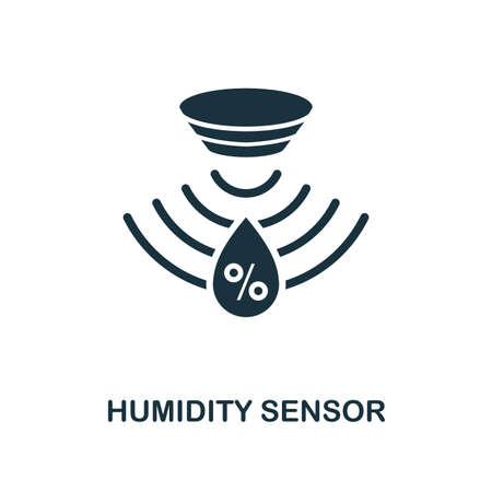 Feuchtigkeitssensorsymbol. Monochromes Design aus der Sensorsammlung. UX und UI. Pixel perfektes Feuchtigkeitssensorsymbol. Für Webdesign, Apps, Software und Drucknutzung.