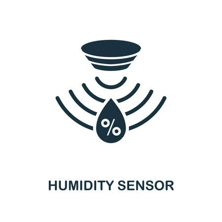 Humidity Sensor icon. Monochrome style design from sensors collection. UX and UI. Pixel perfect humidity sensor icon. For web design, apps, software, printing usage.