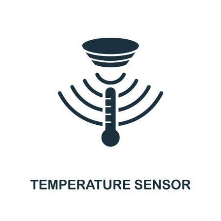 Icône du capteur de température. Conception de style monochrome de la collection de capteurs. UX et UI. Icône de capteur de température parfait pixel. Pour la conception Web, les applications, les logiciels, l'utilisation de l'impression.
