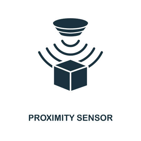 Proximity Sensor icon. Monochrome style design from sensors collection. UX and UI. Pixel perfect proximity sensor icon. For web design, apps, software, printing usage. Banco de Imagens - 108746844