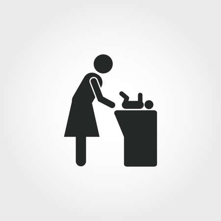 Changing Table icon. Monochrome style design from baby things collection. UI. Pixel perfect simple pictogram changing table icon. Web design, apps, software, print usage.