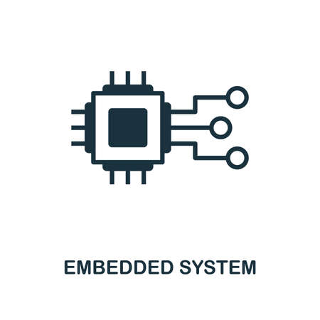 Embedded System icon. Simple style design from industry 4.0 collection. UX and UI. Pixel perfect premium embedded system icon. For web design, apps and printing usage. Stock Vector - 109075337