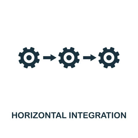 Horizontal Integration icon. Simple style design from industry 4.0 collection. UX and UI. Pixel perfect premium horizontal integration icon. For web design, apps and printing usage. Stock Illustratie