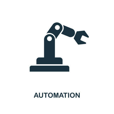 Automation icon. Simple style design from industry 4.0 collection. UX and UI. Pixel perfect premium automation icon. For web design, apps and printing usage.