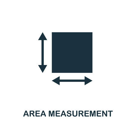 Area Measurement icon. Monochrome style design from measurement collection. UX and UI. Pixel perfect area measurement icon. For web design, apps, software, printing usage.