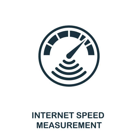 Internet Speed Measurement icon. Monochrome style design from measurement collection. UX and UI. Pixel perfect internet speed measurement icon. For web design, apps, software, printing usage.