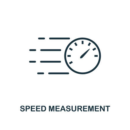 Speed Measurement icon. Monochrome style design from measurement collection. UX and UI. Pixel perfect speed measurement icon. For web design, apps, software, printing usage. Фото со стока - 109350801