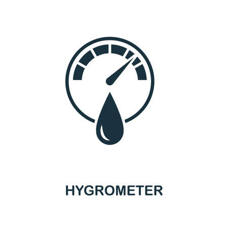 Hygrometer icon. Monochrome style design from measurement collection. UX and UI. Pixel perfect hygrometer icon. For web design, apps, software, printing usage.
