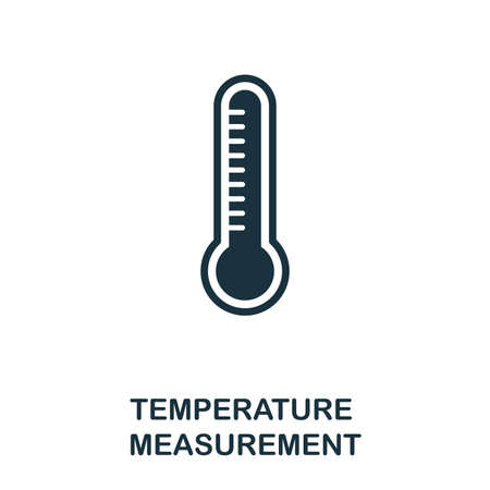 Temperature Measurement icon. Monochrome style design from measurement collection. UX and UI. Pixel perfect temperature measurement icon. For web design, apps, software, printing usage.