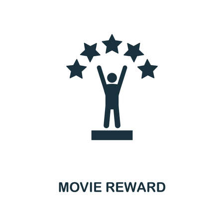 Movie Reward icon. Monochrome style design from cinema collection. UX and UI. Pixel perfect movie reward icon. For web design, apps, software, printing usage. Illustration