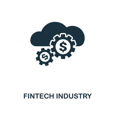 Fintech Industry icon. Monochrome style design from fintech collection. UX and UI. Pixel perfect fintech industry icon. For web design, apps, software, printing usage.
