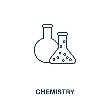 Chemistry outline icon. Creative design from school icon collection. Premium Chemistry outline icon. For web design and printing.